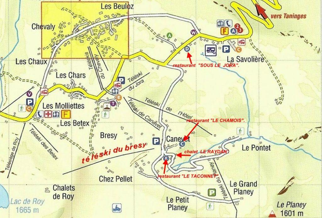 Carte trouver le chalet le raydan