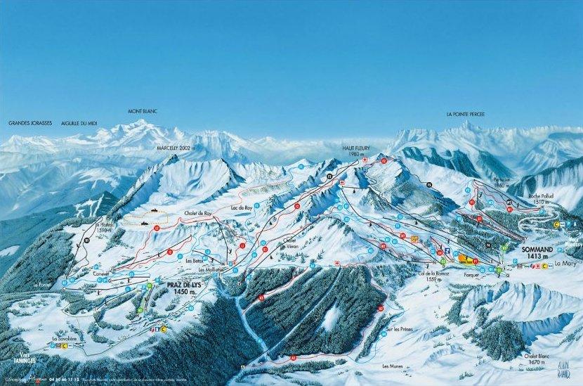 Plan des pistes ski nordique chalet le raydan